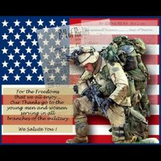 #THANKYOUforourfreedom #USMilitaryVets
