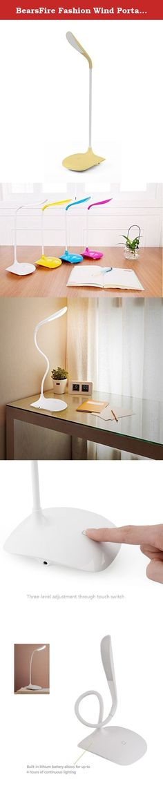 BearsFire Fashion Wind Portable LED Reading Light Adjustable Rechargeable Dimmable Touch Control Desk Lamp Gooseneck with USB Charging Port For Bed Laptop Computer Music Stand Headboard (Yellow). Specifications: 1. 100% Brand New and High Quality 2. LED soft lighting, no flash,protect your eyes, built-in recharge, get rid of the long power cord, place everywhere you want. 3. Simple and stylish 4. 3-Level adjustable brightness 5. Low brightness can be nightlights 6. High brightness can...