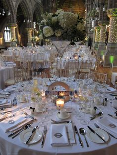 A wedding with an East End Theme at the beautiful St Stephens in Hampstead Saint Stephen, Saints, Table Settings, Party Ideas, Table Decorations, Wedding, Beautiful, Design, Home Decor