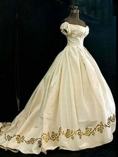wedding dress circa 1862 - Google Search