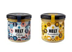 food jar labels with interesting and colorful design | Helt