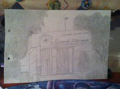 Fachada de la Escuela Universitaria Cardenal Cisneros dibujado por mi.
