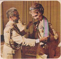 Emperor Haile Selassie and Princess Sofia !975
