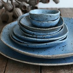 Blue Ceramics by Susan Simonini. Ceramic bowls dishes and plates.