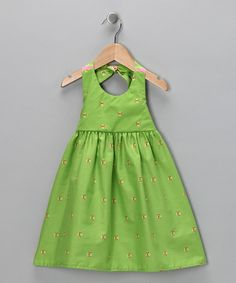 Lime halter dress from Moo Boo's on #zulily today!