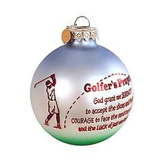golfer's prayer ornament