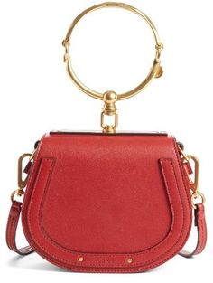 Shop Now - >  https://api.shopstyle.com/action/apiVisitRetailer?id=623947609&pid=uid6996-25233114-59 Chloe Small Nile Bracelet Leather Crossbody Bag - Red  ...