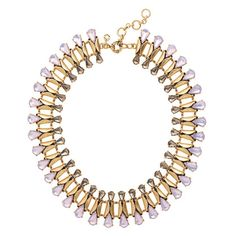 "The best (and easiest) wardrobe update? Our cool and colorful take on the classic crystal necklace. <ul><li>Length: 16"" with a 2 1/4"" extender chain for adjustable length.</li><li>Brass, epoxy.</li><li>Light gold ox plating.</li><li>Import.</li><li>Jewelry Design © 2013 J.Crew International, Inc.</li></ul>"