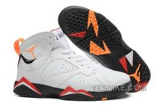 meet 96091 8bdc1 Men And Women Nike Air Jordan AJ7 Jordan Retro 7 Basketball Shoes White Red  Jordan Sneakers