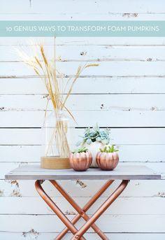 10 Ways To Transform Foam Craft Store Pumpkins