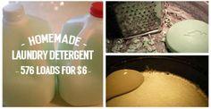 Homemade Laundry Detergent  576 loads For 6 Dollars
