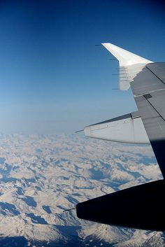 Flying over the Alps from Paris to Rome