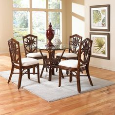 Palm Rattan & Wicker Dining Set