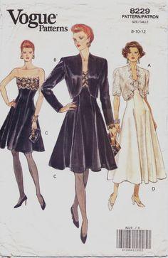 90s Vogue Pattern 8229 Womens Bolero Jacket and by CloesCloset, $14.00