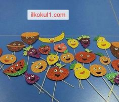 yerli-mali-haftasi-2016-2017-ilkokul1com-4 New Year's Crafts, Diy And Crafts, Arts And Crafts, Fruit Crafts, Food Crafts, Classroom Activities, Toddler Activities, Fruits For Kids, Shape Puzzles