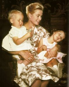 Grace of Monaco with Albert and Caroline