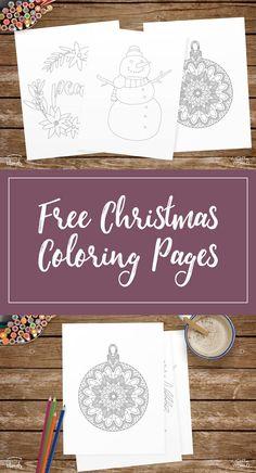 Free Christmas coloring pages   Free Christmas printables   Christmas ideas