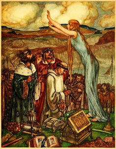 Maurice Lalau illustration of The Romance of Tristram and Iseult, Bédier, 1909, translated from the French by Florence Simmonds, London William Heinemann, c1910.