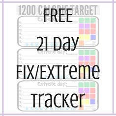 Stay on track with these FREE 21 Day Fix & Extreme Countdown to Competition Trackers