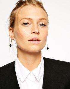 Image 2 ofASOS Hexagon Bead Through Earrings