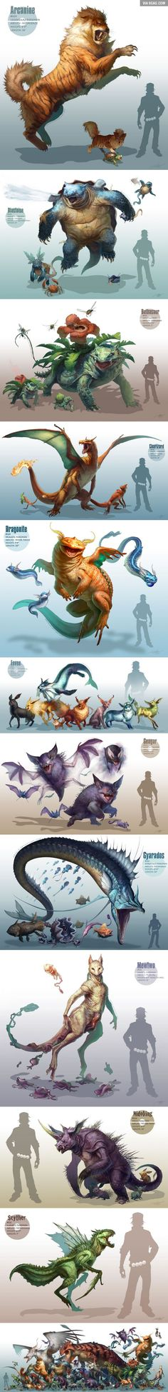 Realistic Pokemon the only one I think should be a bit different is Archanine cause he looks more like a fox than a wolf. Fan Art Pokemon, Pokemon Go, Pikachu, Pokemon Mewtwo, Bulbasaur, Charizard, Twilight Princess, Realistic Cartoons, Beast
