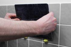 iPad wall mount with Sugru