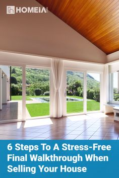 6 Steps to a Stress-Free Final Walkthrough when Selling Your House Buying Your First Home, Selling Your House, Sell House, Real Estate Advertising, Real Estate Video, Real Estate Investing, Rental Property, Simple House, Being A Landlord