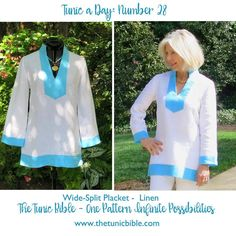 Tunic a Day - linen and contrast