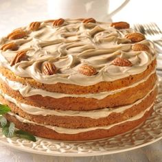Vermont Spice Cake. It's maple! Sounds delicious for a cold fall or winter night.