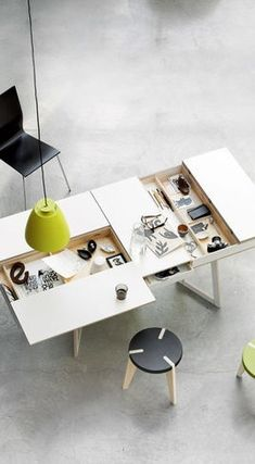 bolia.com desk with hidden storage. modern office desk