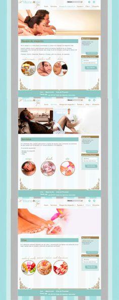 Diseño de página web para un spa, ubicado el el Aeropuerto de la Cd. de México