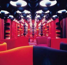 Lo stand di Mira-X alla fiera di Francoforte (1971) - Interior design by Verner Panton - Carefully selected by GORGONIA - https://www.facebook.com/media/set/?set=a.10151137077192992.440600.347003267991=1