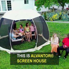 Screened Canopy, Canopy Tent, Garden Huts, Garden Gazebo, Outdoor Life, Outdoor Gear, Pop Up Screens, House Tent, Screen House