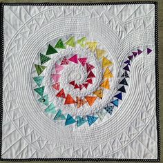 Spiral Geese Mini Quilt pattern $5.00 on Craftsy at http://www.craftsy.com/pattern/quilting/home-decor/spiral-geese-mini-quilt/57599