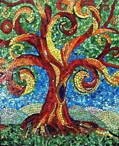 Tree, by Marilyn Place | mosaics | Pinterest