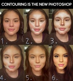 Cool makeup ideas: Contouring is the new photoshop.