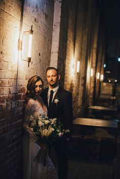 This industrial candlelit wedding inspiration shoot brings to life the beauty of a historic venue with the magic and romance of something very simple- candle light! Polka Dot Wedding, Groom Attire, Event Styling, Engagement Photos, Wedding Inspiration, Wedding Photography, Photoshoot, Couple Photos, Festoon Lights
