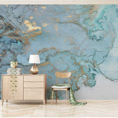 f90d0d3ecac Retro Luxury Blue Bronzing Texture Photo Wallpaper Large 3D Mural Living  Room Bedroom Sofa TV Wall Decoration Wall Paper Mural