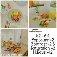Công thức VSCO chỉnh màu đồ ăn tone vàng đẹp - Công thức màu