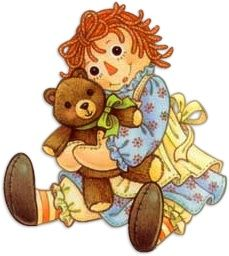 Raggedy Ann Clip Art | From the Heart PostCards - Why God Made Little Girls