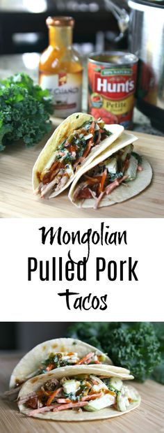 My recipe for Mongolian Pulled Pork Tacos is a modern twist on Mongolian BBQ. I use simple, flavorful ingredients to help me accomplish my dinner goals