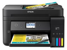 """""""Features & Benefits"""" Epson WorkForce EcoTank Wireless Color All-in-One Supertank Printer with Scanner, Copier, Fax and Ethernet Epson Ecotank Printer, Ink Tank Printer, Wifi Printer, Printer Price, Printer Scanner, Inkjet Printer, Printer Toner, Wireless Printer, Document Printing"""