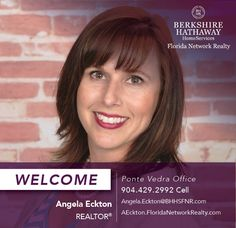 BERKSHIRE HATHAWAY HOMESERVICES FLORIDA NETWORK REALTY WELCOMES ANGELA ECKTON