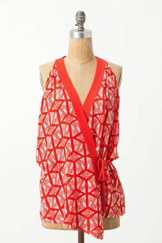 Anthropologie Catalyst Wrap Blouse Top Sizes 2 & 6, Leifsdottir, Silk