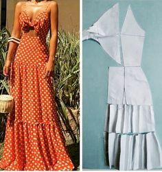 Diy Discover como custurar roupa como custurar roupas como custurar na maquina c. Fashion Sewing, Diy Fashion, Ideias Fashion, Fashion Outfits, Diy Clothing, Sewing Clothes, Dress Sewing Patterns, Clothing Patterns, Diy Vestidos