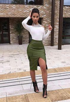 Milytary skirt fashion