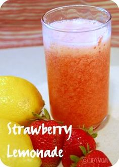 Summer In A Glass! Strawberry Lemonade =)