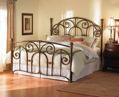 Shop for Wesley Allen Cornell Complete Bed, and other Bedroom Beds at Marty Raes of Lexington in Lexington, SC. Simple, symmetrical curves accentuate the bold nature of this beautifully designed bed. Fort Collins, Colorado Springs, Wrought Iron Bed Frames, Iron Headboard, Headboards For Beds, Metal Headboards, Canopy Beds, Under Bed Storage, Panel Bed
