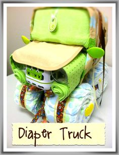 Diaper cake truck! soo cute for the many people I know that are having little boys