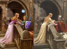 Classic Paintings Reimagined as Fan Art - Media Chomp Johannes Vermeer, Gustav Klimt, Claude Monet, Pierre Auguste Cot, Sailor Moon, King Picture, Jean Honore Fragonard, Mona Lisa, Neo Queen Serenity